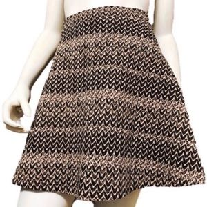 Dresses & Skirts - Black | Tan | Skater Quilted Skirt Size-Medium